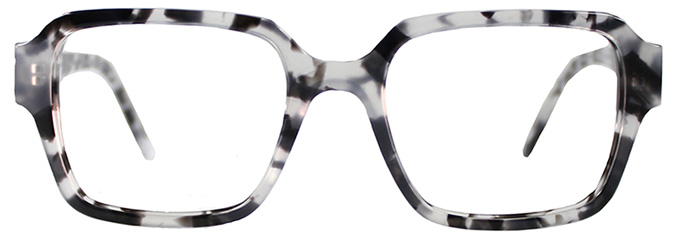 Square Glasses Frames LUCKY by Black Eyewear