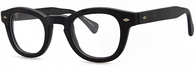 Small frame glasses, Keyhole bridge glasses frames, order prescription glasses online Erroll by Black Eyewear