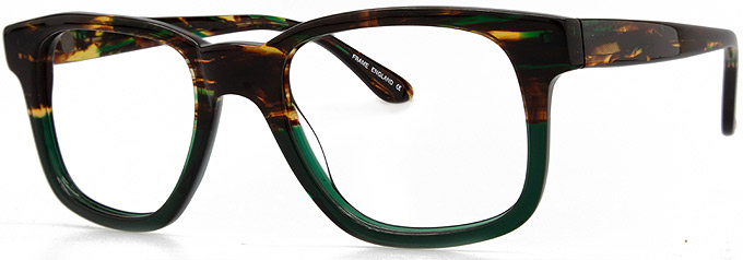 Square Glasses Fames FATS by Black Eyewear.