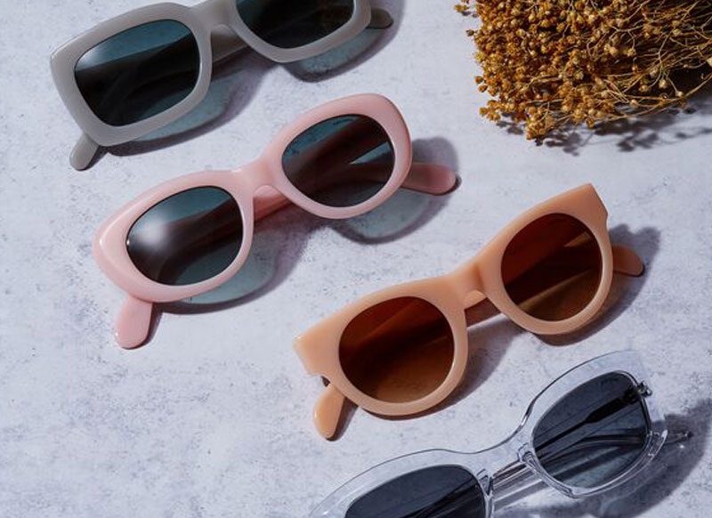 Quirky Sunglasses by Black Eyewear, Pink Glasses Frames