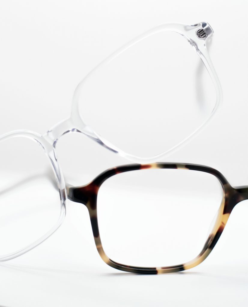 Square frame glasses and Prescription Glasses frames by Black Eyewear