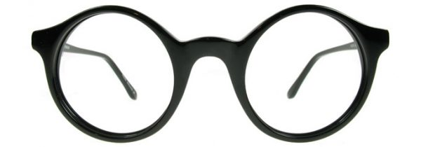 Black round glasses frames WES by Black Eyewear