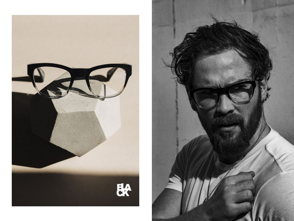 Tommy Brady in Black Eyewear Brookmeyer glasses