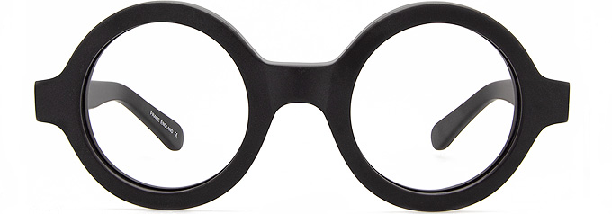 Thick Black glasses, Round glasses, by black eyewear